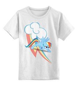 """Детская футболка классическая унисекс """"Rainbow Dash give me fun"""" - арт, популярные, прикольные, pony, rainbow dash, mlp, my little pony, пони, dash, magic"""