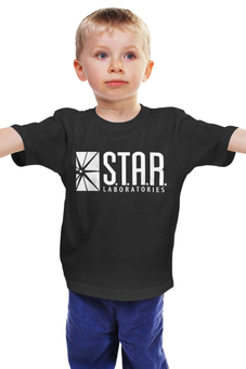 "Детская футболка классическая унисекс ""S.T.A.R. Labs"" - флеш, flesh, лаборатории стар"