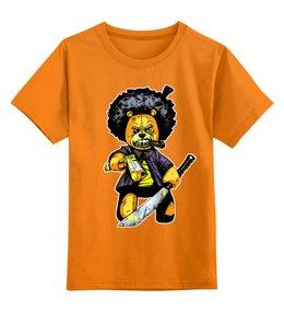 """Детская футболка классическая унисекс """"Тэдди Гангстер"""" - мультфильмы, сыну, гангстер, мишка тэдди, любителям комиксов"""