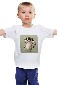 """Детская футболка классическая унисекс """"Крошка Енот"""" - дети, дружба, улыбка, крошка енот"""