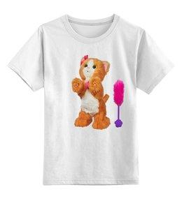 """Детская футболка классическая унисекс """"КОШКА КИТИ.ИГРУШКА. МУЛЬТ. KITTY."""" - кот, медведь, игрушка"""