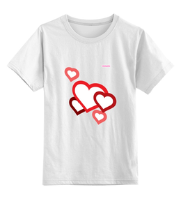 """Детская футболка классическая унисекс """"Сердечки"""" - арт, сердца, tajlife"""
