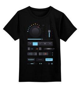 """Детская футболка классическая унисекс """"Магнитофон, плеер"""" - музыка, dj, music, плеер, beat"""