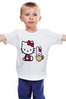 """Детская футболка """"КОШКА КИТИ.ИГРУШКА. МУЛЬТ. KITTY."""" - кошка, заяц, кити, муль"""