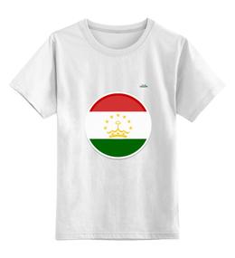 """Детская футболка классическая унисекс """"Флаг Таджикистана"""" - арт, таджикистан, флаг, tajlife"""