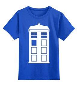 """Детская футболка классическая унисекс """"Tardis (Тардис)"""" - сериал, doctor who, tardis, доктор кто, time machine"""