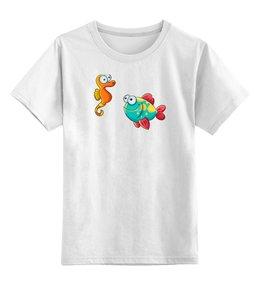 """Детская футболка классическая унисекс """"Смешные морские рыбки"""" - рыбки, футболка для мальчика, футболка для девочки"""