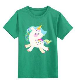 """Детская футболка классическая унисекс """"Милый единорог"""" - милый, детский, единорог, мультяшный, единорожек"""