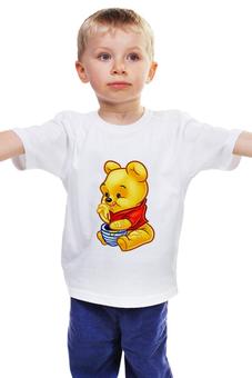 """Детская футболка классическая унисекс """"Винни-Пух"""" - винни пух, winnie pooh, медвежонок винни"""