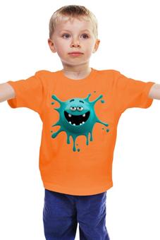"""Детская футболка классическая унисекс """"Монстрик"""" - смех, клякса, смайлик, улыбка, монстрик"""