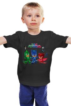 """Детская футболка классическая унисекс """"Герои в масках"""" - героивмасках, кэтбой, pjmasks, гекко"""