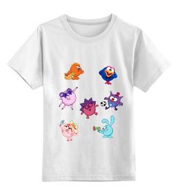 """Детская футболка классическая унисекс """"Футболка из серии """"Смешарики"""""""" - футболка, популярные, прикольные"""