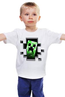"""Детская футболка классическая унисекс """"Крипер. Майнкрафт"""" - игры, minecraft, майнкрафт, крипер, геймерские"""