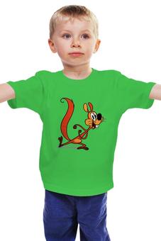 """Детская футболка классическая унисекс """"Безумная белка"""" - белочка"""