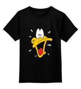 """Детская футболка классическая унисекс """"Daffy Duck"""" - мульт, daffy duck, даффи дак, утка даффи, луни тюнз"""