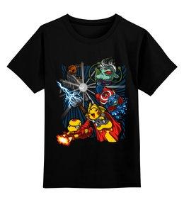 """Детская футболка классическая унисекс """"Супергерои"""" - аниме, железный человек, капитан америка, покемон, супергерои"""