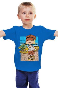 "Детская футболка ""Super surfing "" - море, мальчик, сёрфинг"