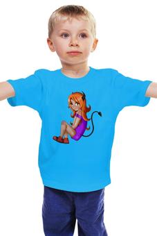 """Детская футболка классическая унисекс """"Девочка чертёнок """" - для девочки"""