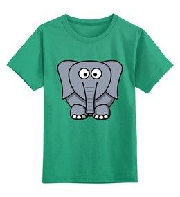"""Детская футболка классическая унисекс """"Милый слоник"""" - слон, слоник"""