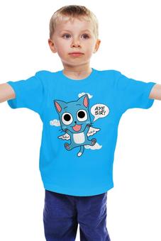 """Детская футболка """"Хэппи. Fairy Tail"""" - аниме, манга, fairy tail, хвост феи, хэппи"""