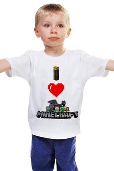 """Детская футболка классическая унисекс """"Майнкрафт"""" - minecraft, майнкрафт"""