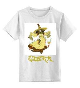 """Детская футболка классическая унисекс """"Знак зодиака Весы"""" - знак зодиака весы, гороскоп весы, символ знака весы, малыш весы, ребенок весы"""