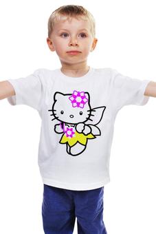 "Детская футболка ""кот кошка. HELLO KITTY.ЛЮБИМЫЙ ГЕРОЙ МУЛЬТ."" - кот, kitty, мультфильм, любиый"