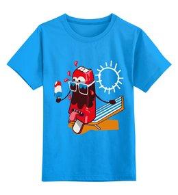 """Детская футболка классическая унисекс """" Ice cream"""" - лето, солнце, мороженое"""