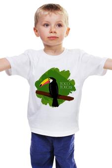 """Детская футболка """"Тукан"""" - африка, птицы, джунгли, тукан"""
