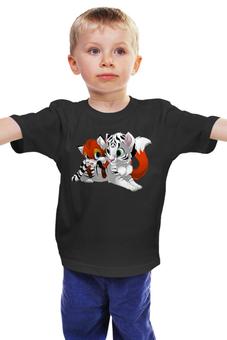 """Детская футболка """"Тигрята"""" - котик, тигрёнок"""