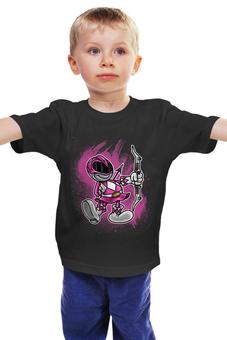 """Детская футболка """"Розовый Рейнджер"""" - самурай, могучие рейнджеры, токусацу, розовый рейнджер"""
