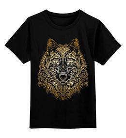 """Детская футболка классическая унисекс """"Голова волка"""" - животное, волк"""