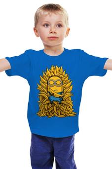 """Детская футболка классическая унисекс """"Миньоны. Банана Трон"""" - banana, миньоны, игра престолов, game of thrones, minions"""
