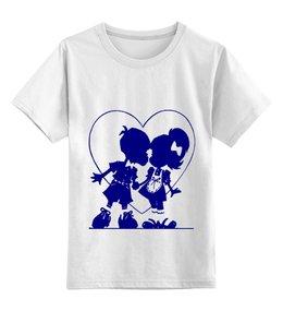 """Детская футболка классическая унисекс """"Мальчик и девочка. """" - любовь, футболка, популярные, в подарок"""