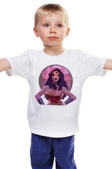 """Детская футболка """"Wonderwoman / Чудоженщина"""" - комиксы, бэтмен, wonderwoman, чудоженщина"""