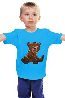 """Детская футболка классическая унисекс """"Медвежонок"""" - милый, мультик, малыш, медвежонок"""