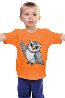 """Детская футболка классическая унисекс """"Совушка"""" - птицы, сова, bird, owl, совенок"""