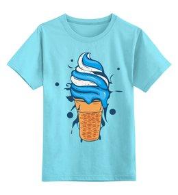 """Детская футболка классическая унисекс """"Мороженое"""" - сладости, мороженое"""