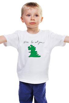 """Детская футболка """"динозавр"""" - авторские майки, стиль, рисунок, динозавр"""