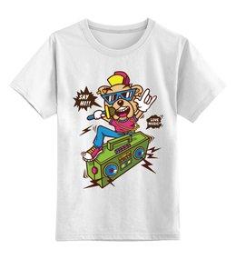 """Детская футболка классическая унисекс """"Собака Рэпер"""" - собака, пёс, рэпер"""