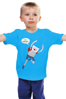 "Детская футболка ""Я моряк"" - adventure time, время приключений, finn & jake, финном, я моряк"