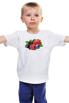"""Детская футболка классическая унисекс """"Berries"""" - ягоды, ягода, ягодка, berries, ягодки"""