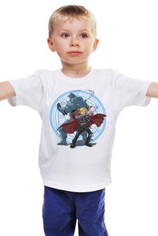"""Детская футболка классическая унисекс """"Стальной алхимик"""" - аниме, манга, стальной алхимик, fullmetal alchemist, цельнометаллический алхимик"""