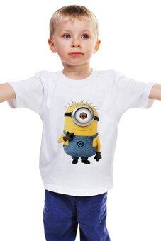 """Детская футболка классическая унисекс """"Миньоны"""" - миньоны, мульгерои"""