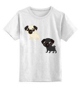 """Детская футболка классическая унисекс """"Мопсы"""" - юмор, мопс, мопсы"""