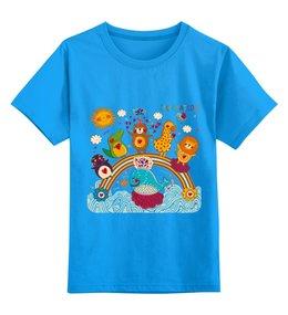 """Детская футболка классическая унисекс """"Зверушки"""" - праздник, сердца, животные, звери"""