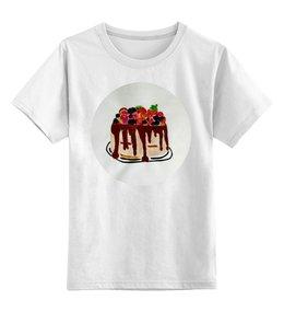 """Детская футболка классическая унисекс """"Тортик"""" - праздник, день рождения, тортик"""