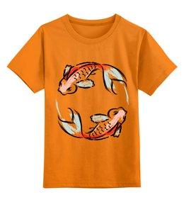 """Детская футболка классическая унисекс """"Знак Зодиака Рыбы"""" - животные, рыба, знак зодиака, рисунок, арт"""