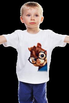 """Детская футболка """"Бурундук Саймон"""" - герой, мульт, бурундук, элвин, элвин и бурундуки"""