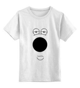 """Детская футболка классическая унисекс """"Брайан Гриффин"""" - dog, глаза, нос, брайан гриффин, brian griffin"""